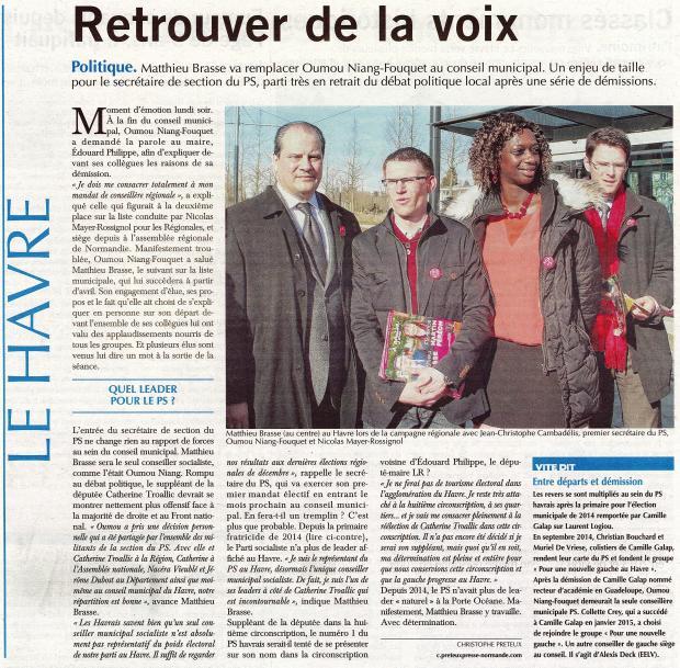 Retrouver de la voix - Le Havre Libre du 17-03-2016