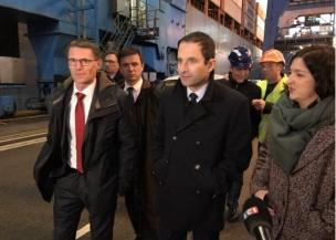 Benoît Hamon Port du Havre Matthieu Brasse Laura Slimani